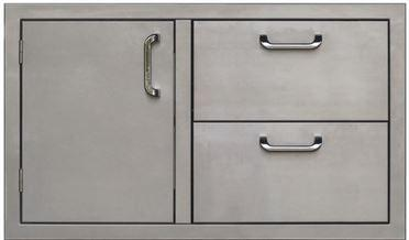 PCM 260 Series Single Door Double Drawer 36 Inch Left