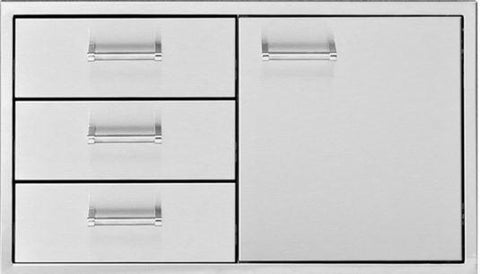 Delta Heat 30 Inch Door 3-Drawer Combo