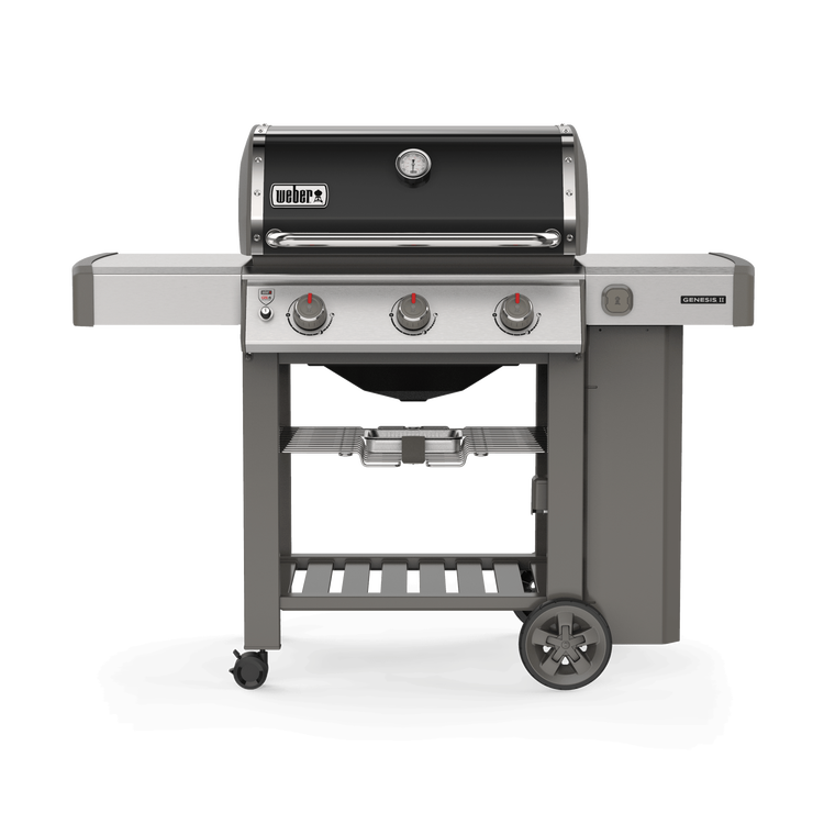 Weber Genesis II E-310 Freestanding Gas Grill, Natural Gas - Black