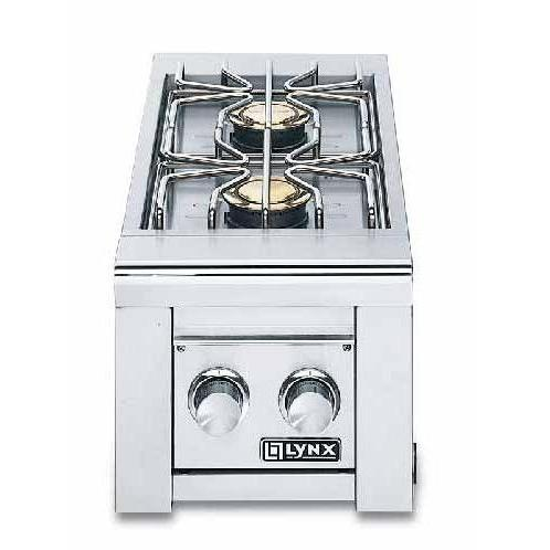 Lynx Double Cart Mounted Gas Side Burner - LP