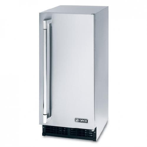 Lynx 27 lb Capacity Outdoor Ice Machine - Stainless Steel