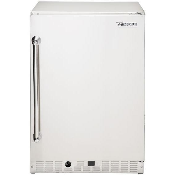 Twin Eagles 6.1 Cu. Ft. Capacity Compact Refrigerator - Stainless Steel