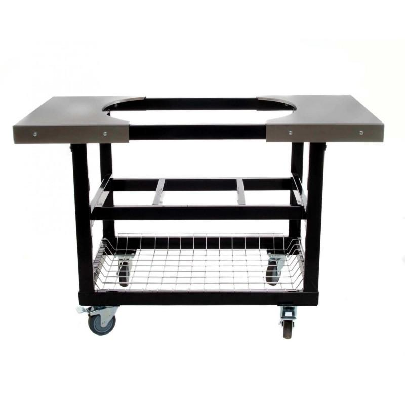 Primo Cart With Basket & S/S Side Tables With Casters For Extra Large Oval Grill