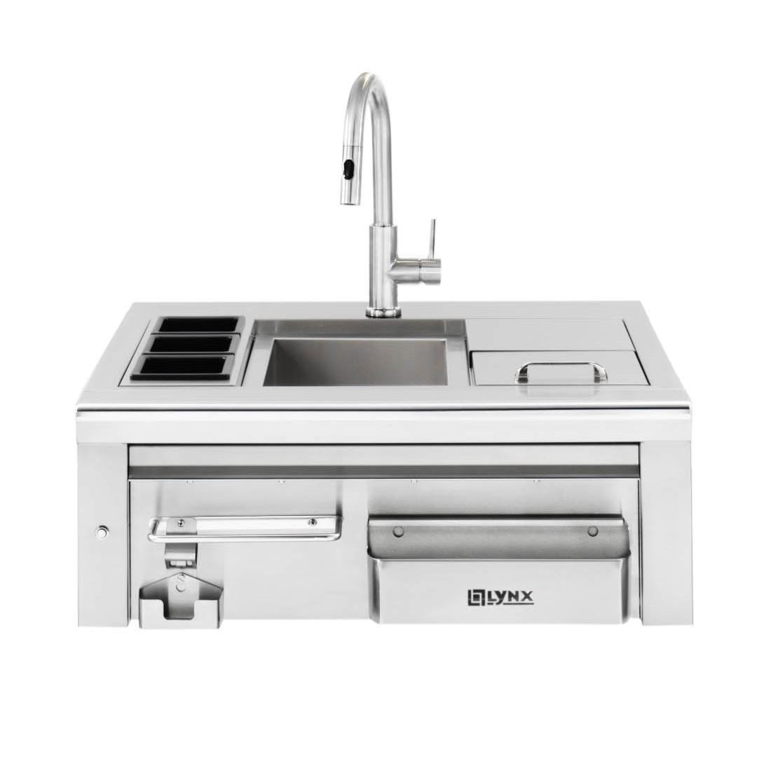 Lynx 30 Inch Built In Cocktail Station W/ Sink & Ice Bin Cooler