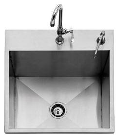 Twin Eagles 24-inch Outdoor Sink with Cold Faucet and Soap Dispenser