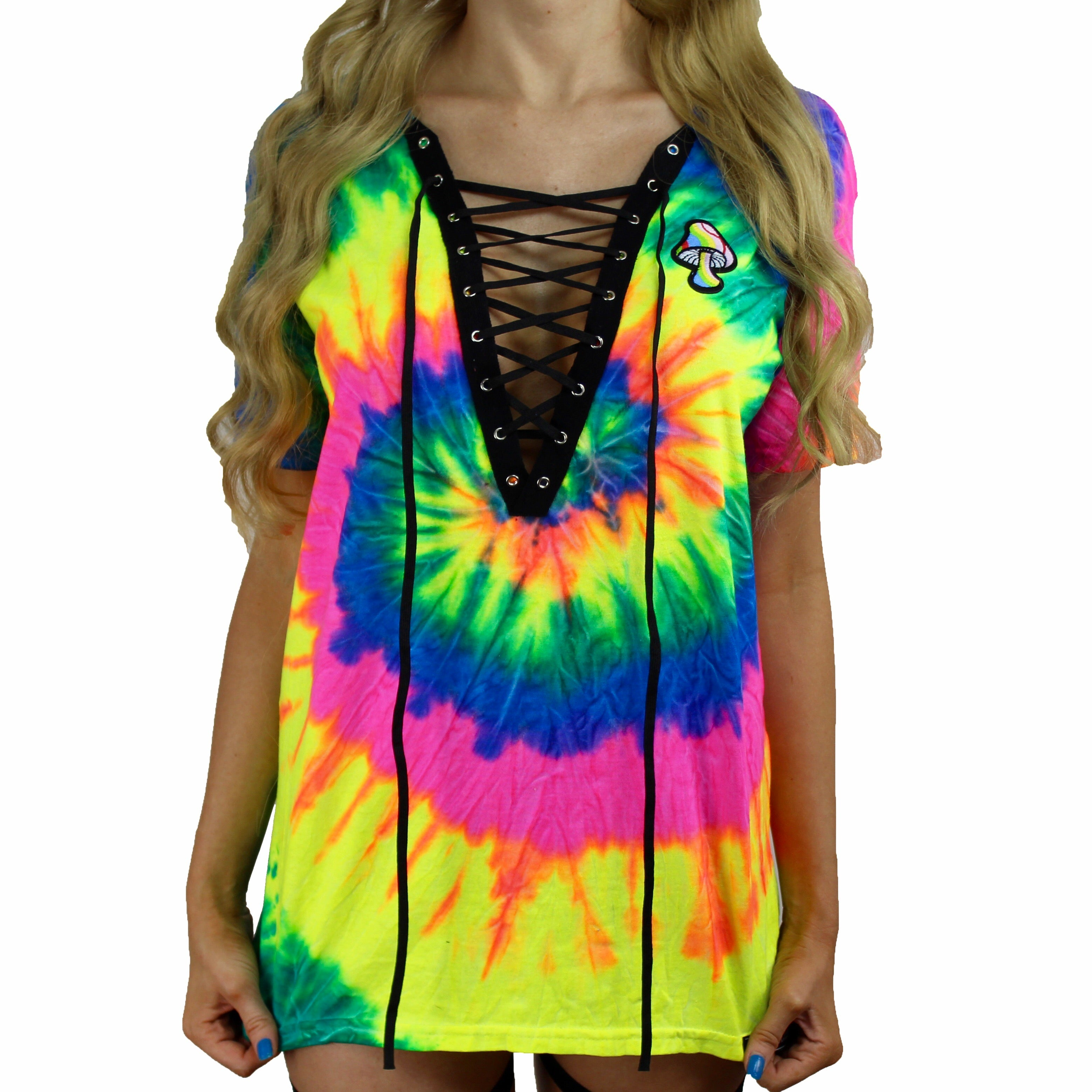 94c7e3ff2a Reactive Neon Rainbow Tie Dye Lace Up – IMMERSIVE LIVING