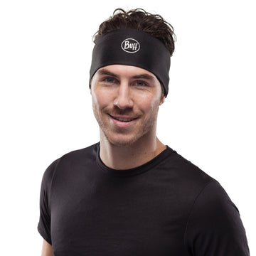 Solid Black - BUFF® Coolnet UV+ Headband - Cyclop.in