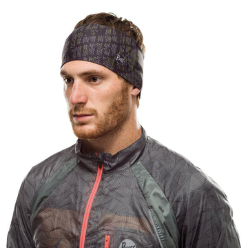 Throwies Black - BUFF® Coolnet UV+ Headband - Cyclop.in