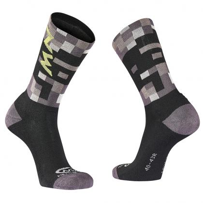Northwave Core High Socks - Grey/Yellow-Fluo - Cyclop.in