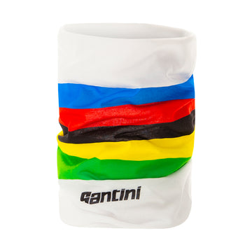 Santini UCI Rainbow Stripes Neck Warmer - Cyclop.in