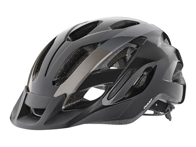 Giant Compel Cycle Helmet | Gloss Black/Metallic - Cyclop.in