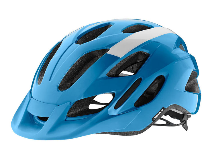 Giant Compel Gloss Cycle Helmet | White/Blue - Cyclop.in