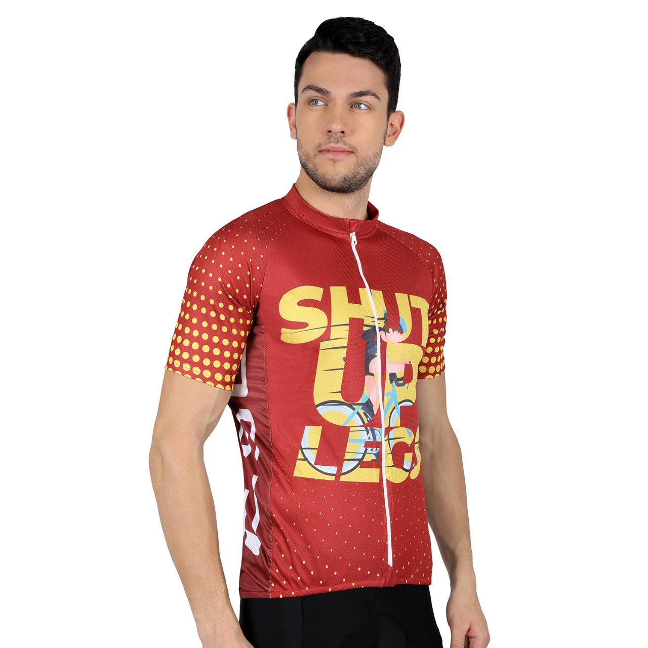 Endurance Shut Up Legs Cycling Jersey - Maroon - Cyclop.in