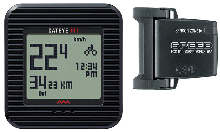 CatEye Fit Cyclocomputer & Pedometer (CC-PD-100W) - Cyclop.in