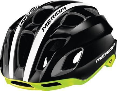 Merida Team Race AR3 Cycle Helmet | Glossy Black Green - Cyclop.in