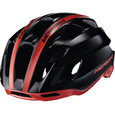 Merida Team Race AR3 Cycle Helmet | Glossy Black Red - Cyclop.in