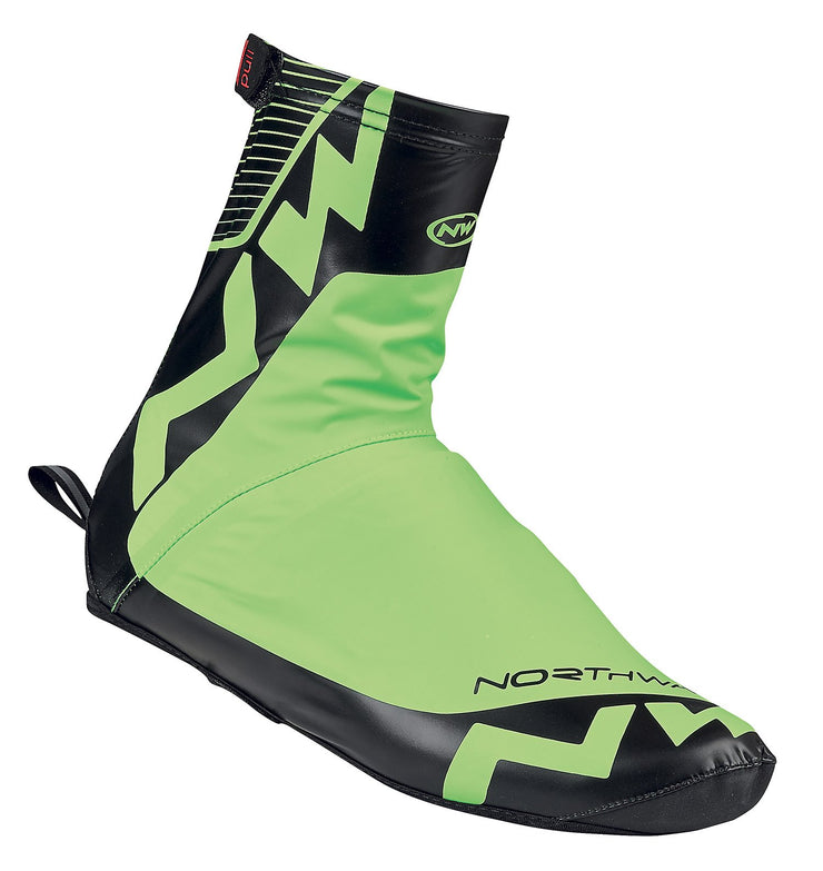 Northwave Acqua Summer Shoe Cover-Green Fluo-Black - Cyclop.in