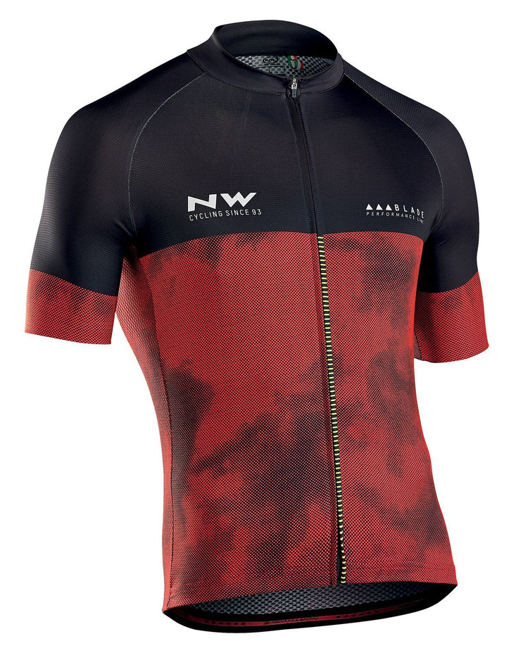 Northwave Blade 3 CyclingJersey -Red-Black - Cyclop.in