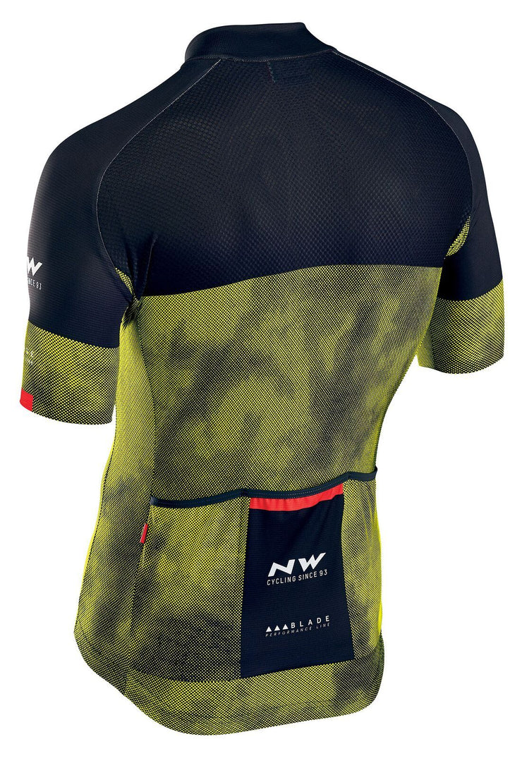 Northwave Blade 3 CyclingJersey -Yellow Fluo-Black - Cyclop.in