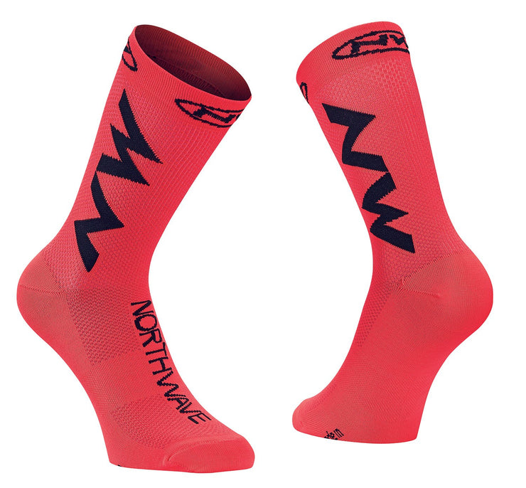 Northwave Extreme Air Cycling Socks -Lobster Orange/Black - Cyclop.in