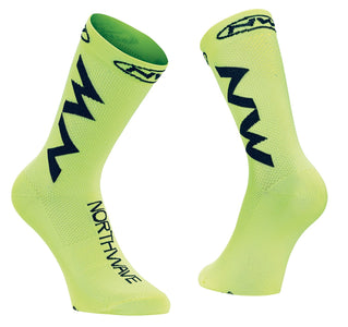 Northwave Extreme Air Cycling Socks -Yellow Fluo/Black - Cyclop.in