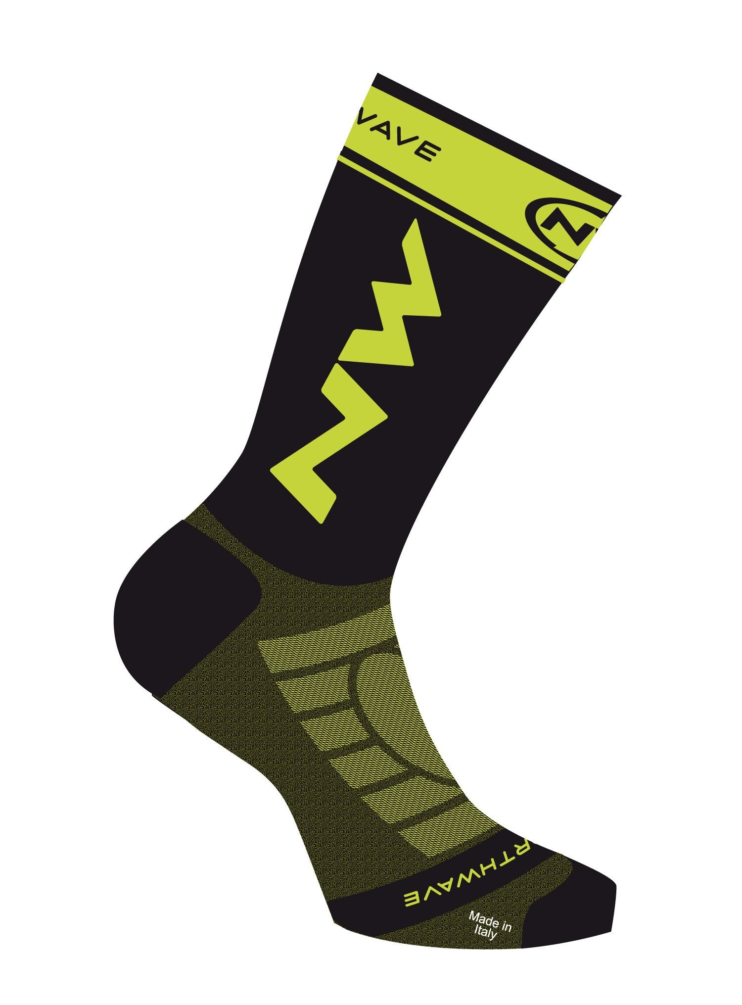 Northwave Extreme Light Pro Cycling Socks -Black-Lime Fluo - Cyclop.in