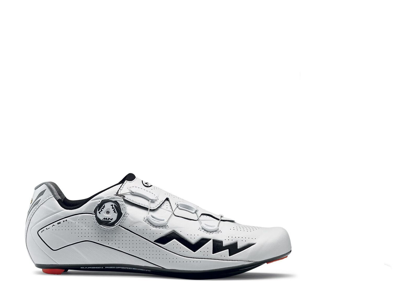 Northwave Flash Shoes-White/Black - Cyclop.in