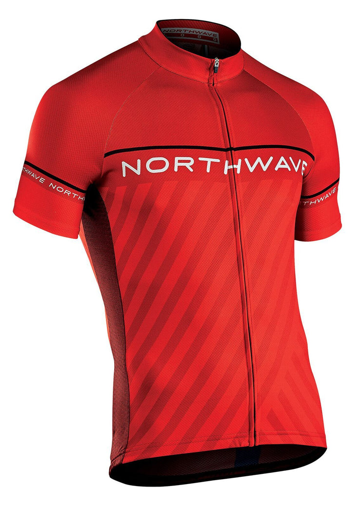 Northwave Logo 3 CyclingJersey -Red-Black - Cyclop.in