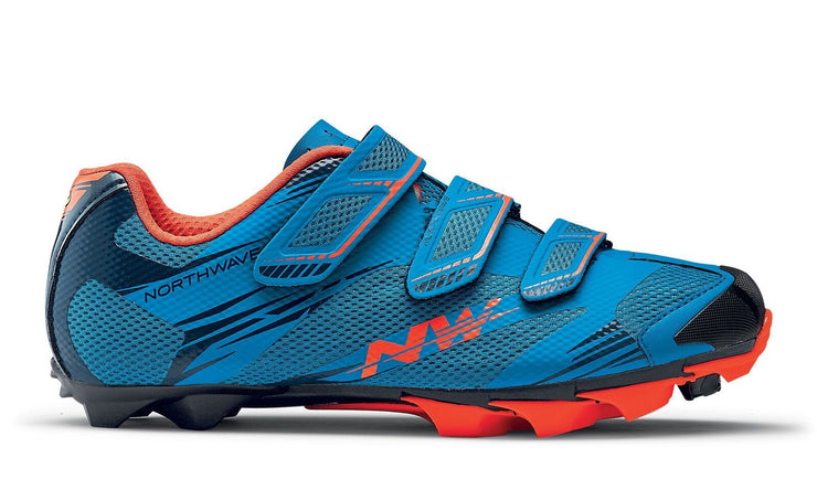 Northwave Scorpius 2 Shoes-Blue/Lobster Orange - Cyclop.in