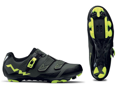 Northwave Scream 2 Plus Shoes-Black/Grey/Yellow - Cyclop.in