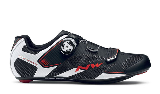 Northwave Sonic 2 Plus Shoes-Black/White/Red - Cyclop.in