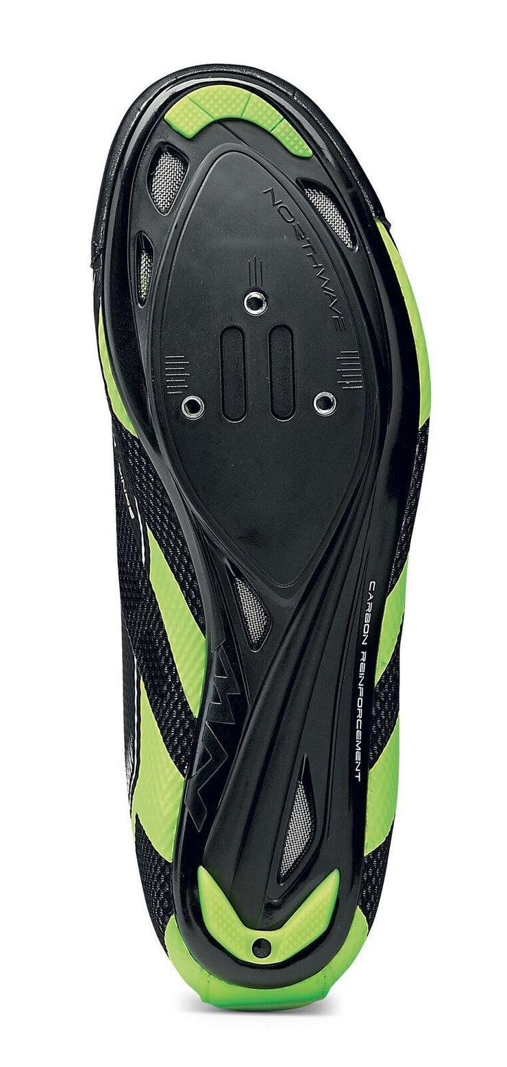 Northwave Sonic 2 Plus Shoes-Black/Yellow Fluo/White - Cyclop.in