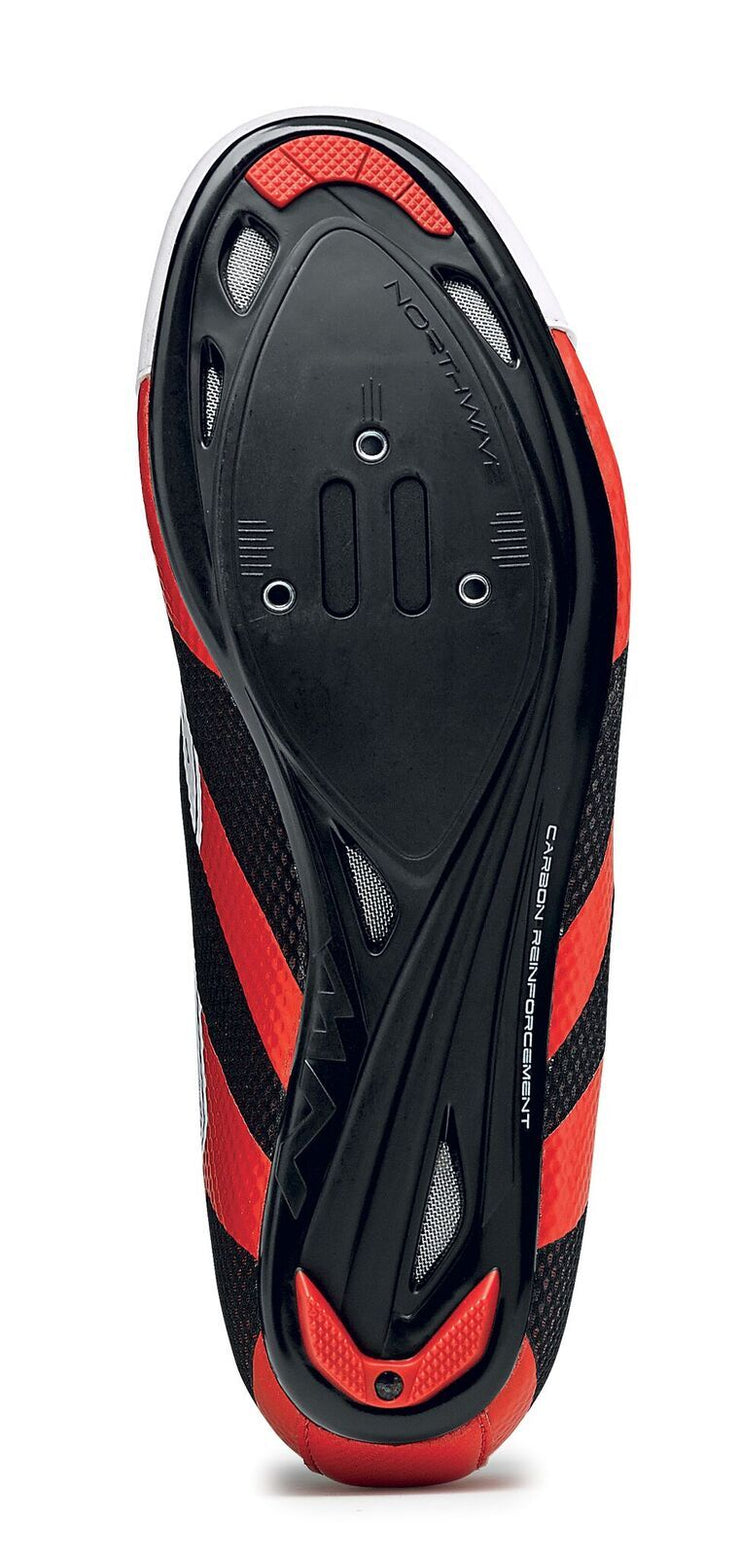 Northwave Sonic 2 Shoes-White/Black/Red - Cyclop.in