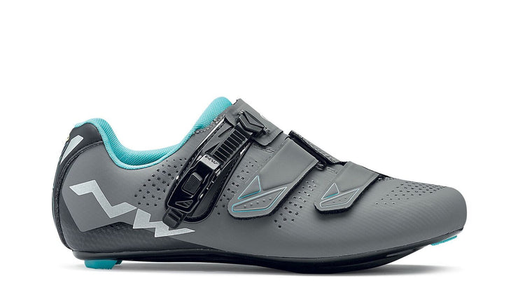 Northwave Verve 2 SRS Shoes-Anthra/Aqua - Cyclop.in