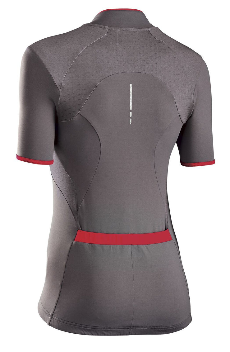 Northwave Women Venus 2 CyclingJersey -Grey-Red - Cyclop.in