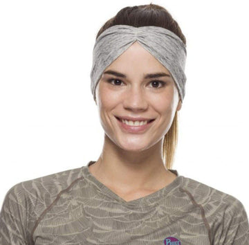 Silver Grey Htr - BUFF® CoolNet® UV+ Tapered Headband - Cyclop.in