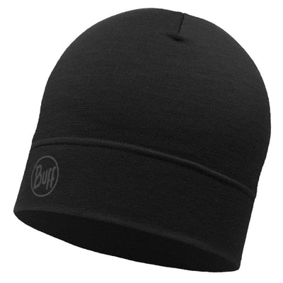 Solid Black - BUFF® Lightweight Merino Wool Hat - Cyclop.in