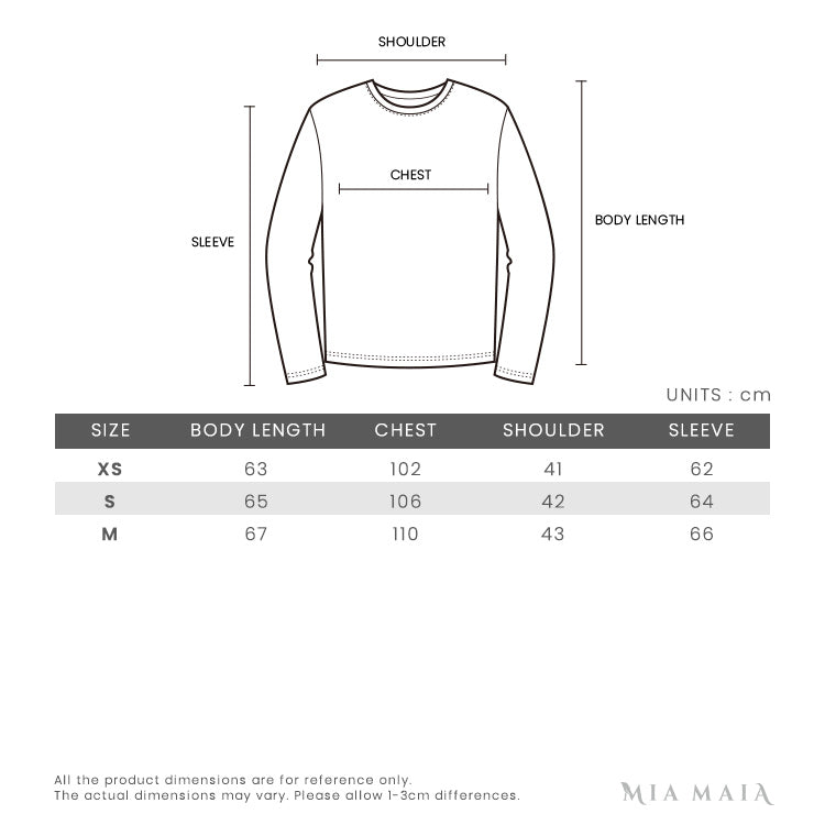 Acne Studios Nalon Face Classic Fit Sweater | Size Chart