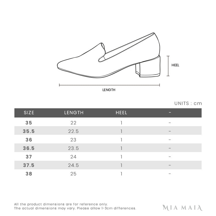 Bally MAELLE Babouche Counter Leather Flats | Size Chart