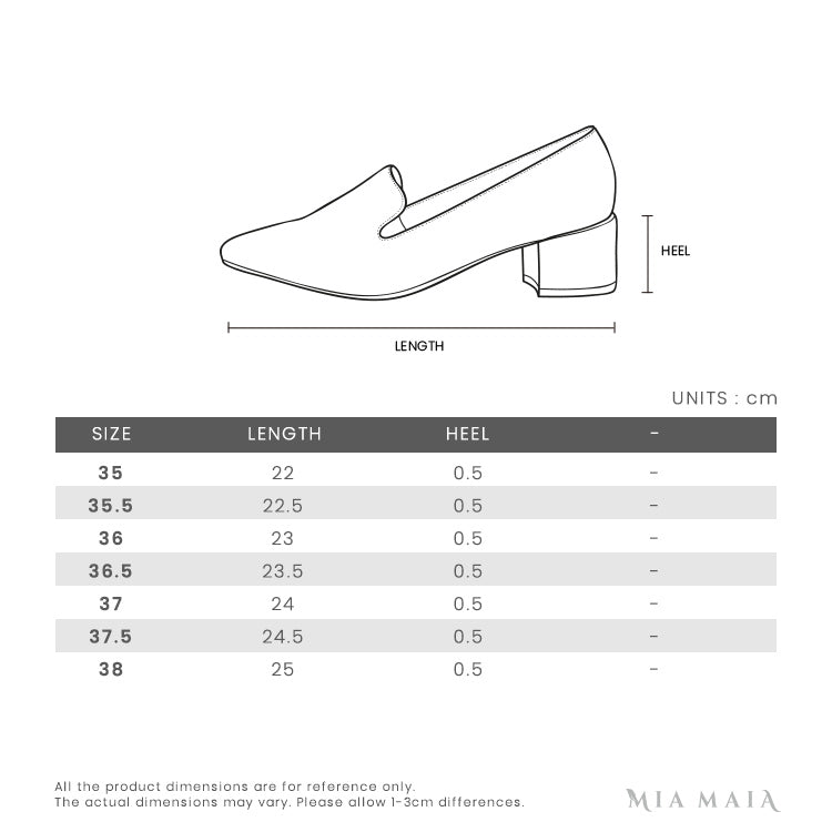 Bally HAMELIA Babouche Counter Leather Flats | Size Chart