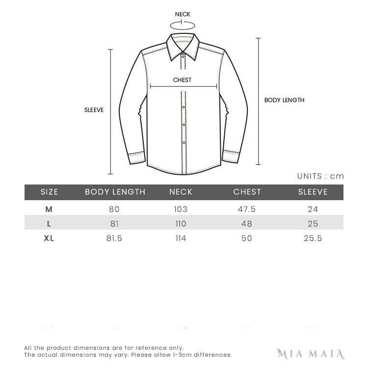 Burberry Knit Collar Vintage Check Cotton Short-sleeved | Size Chart | Mia-Maia.com