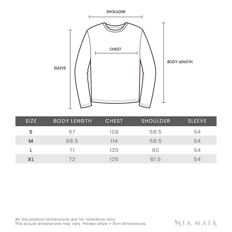 Burberry Knitted Crest Jumper | Size Chart | Mia-Maia.com