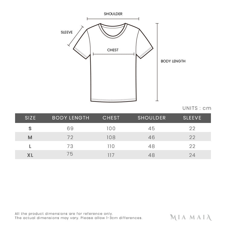 Burberry Check Placket Cotton Polo Shirt | Size Chart | Mia-Maia.com