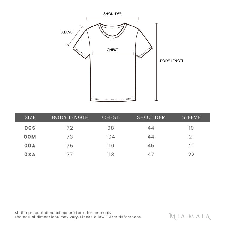 Burberry Monogram Embroidered T-Shirt | Size Chart | Mia-maia.com