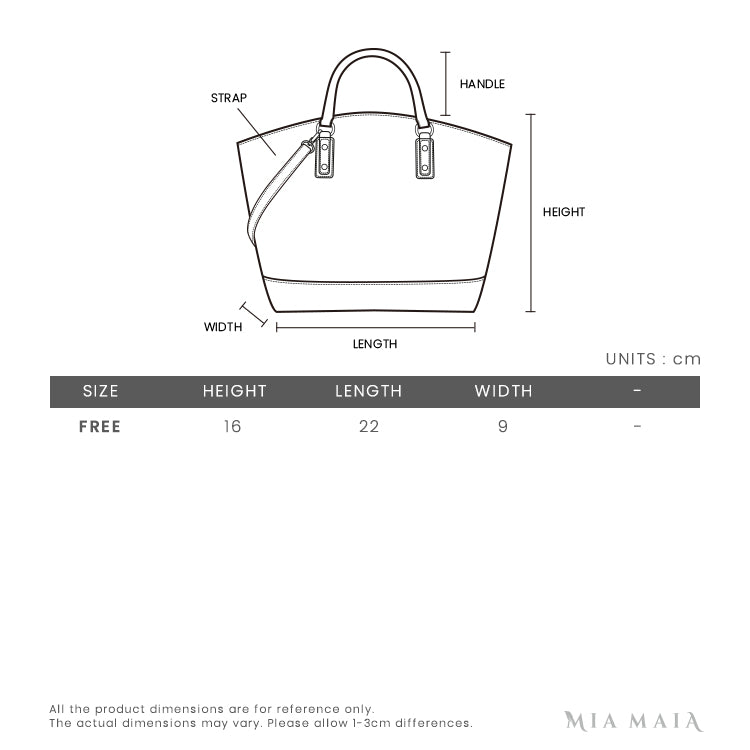Longchamp Penelope Leather Crossbody Bag | Size Chart | Mia-Maia.com