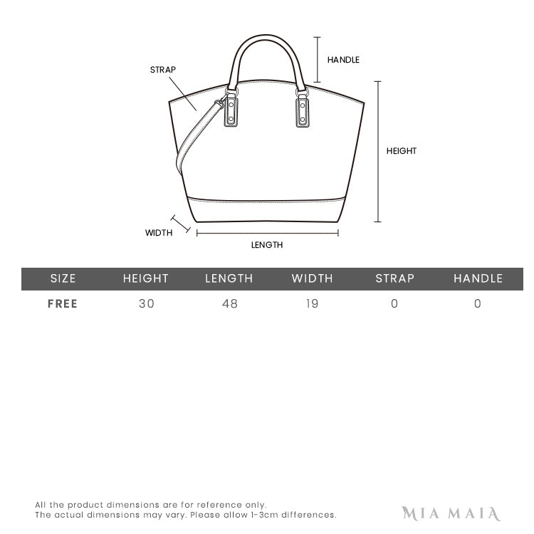 Longchamp Le Pliage Large Shoulder Bag | Size Chart | Mia-Maia.com