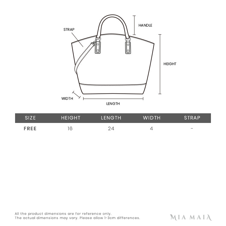 Chloe Faye Small Shoulder Bag | Size Chart | Mia-Maia.com