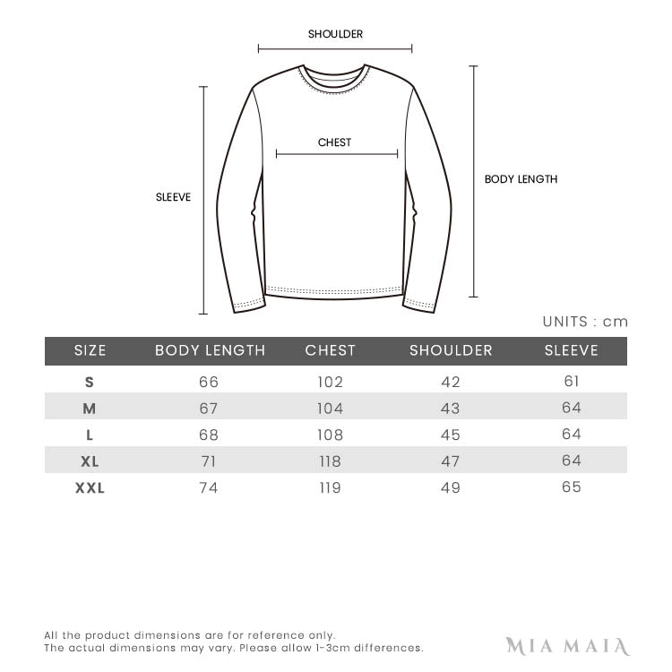 Emporio Armani Logo-embroidered Wool-blend Jumper | Size Chart | Mia-Maia.com