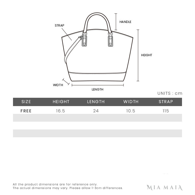 Loewe Puzzle Graphic Small Bag Raspberry | Size Chart | Mia-Maia.com