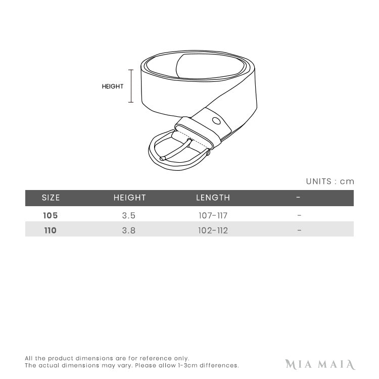 Salvatore Ferragamo Reversable Gancini Buckle Leather Belt | Size Chart | Mia-Maia.com